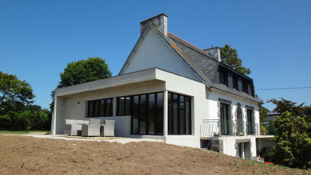 projet n 20 r novation et extension d une maison saint thonan atypique architecte d. Black Bedroom Furniture Sets. Home Design Ideas