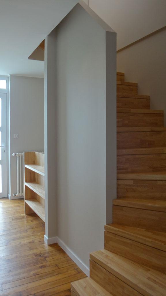 projet n 27 r novation et rehausse d une maison brest atypique architecte d 39 interieur brest. Black Bedroom Furniture Sets. Home Design Ideas