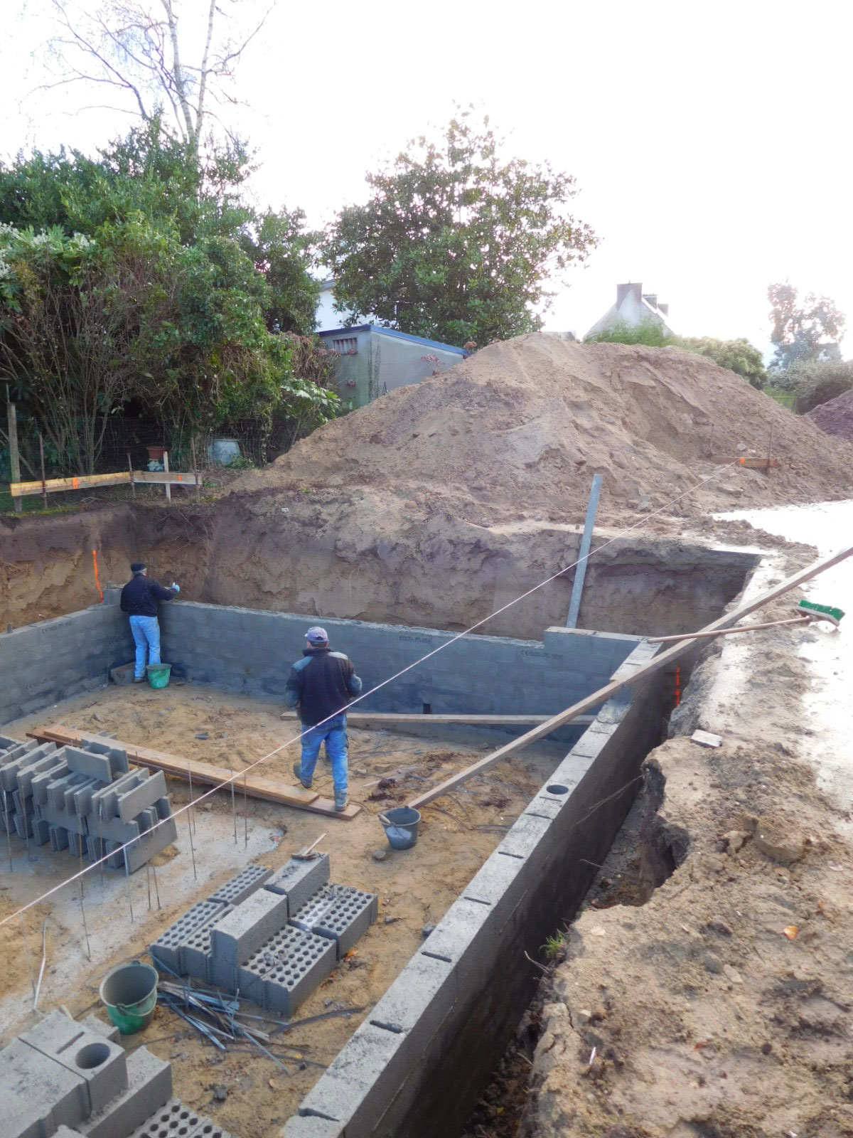 Projet n 29 construction d une piscine couverte for Construction piscine couverte